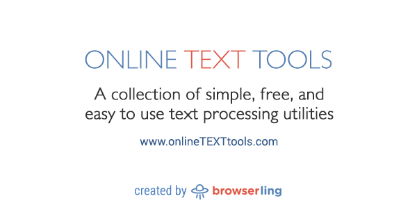Online Text Tools - Simple, free and easy to use text